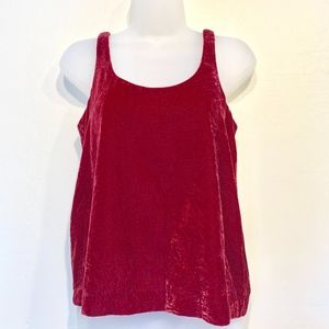 J CREW   Plum Velvet Dressy Casual Boho Tank Top